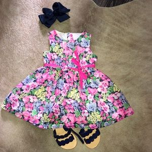 Other - Pink and Blue flora party dress